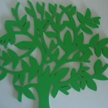 Escultura de Arvore Verde em MDF