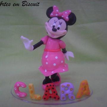 Topo de bolo minie rosa (CLARA)