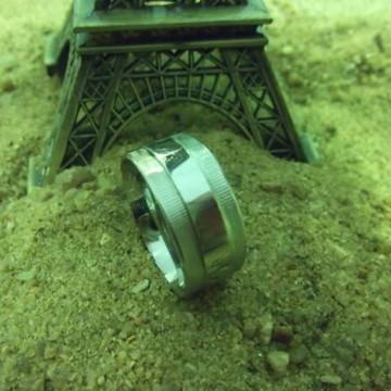 Anel de aço cirúrgico artesanal