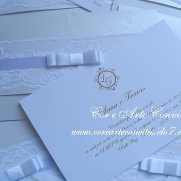 Convite Renda Horizontal Noivado