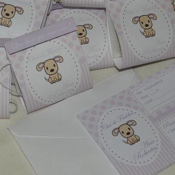 Convite + Lembrancinha Chá De Bebê