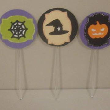 Topper para cupcake halloween