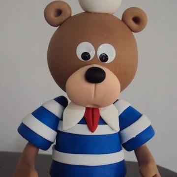 Lindo Urso Marinheiro em biscuit!