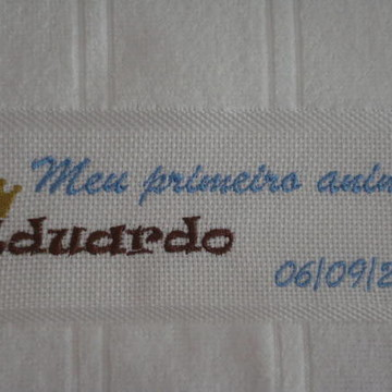 Toalha Lembrancinha bordada - 1 Aninho