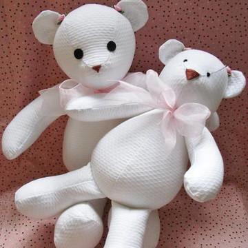 Ursinho branco em piquê