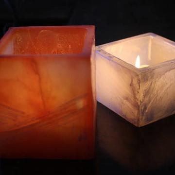 Conjunto de luminária com vela