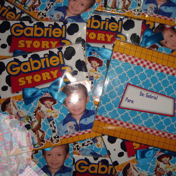 Convite Toy Story Gabriel (entregue)