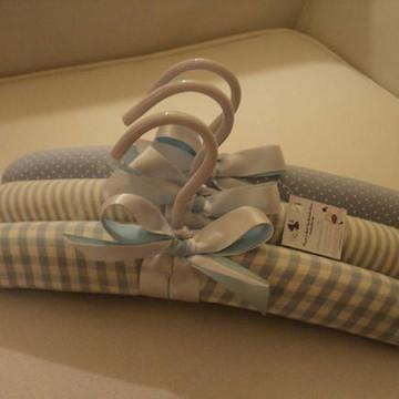 Cabide Infantil Azul-bebê -( 3 unid.)
