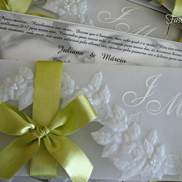 Convite de Casamento JARDIM SECRETO