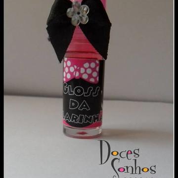 Mini Gloss personalizado com tema.