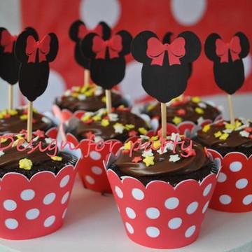 Topper para cupcake Minnie ou Mickey