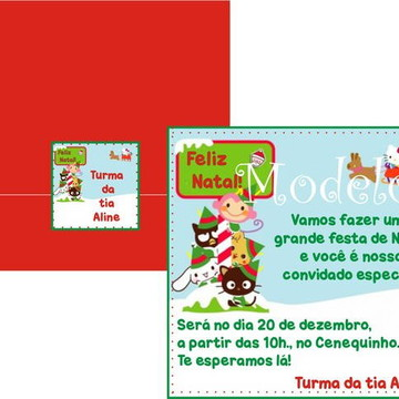 Convite Hello Kitty Natal