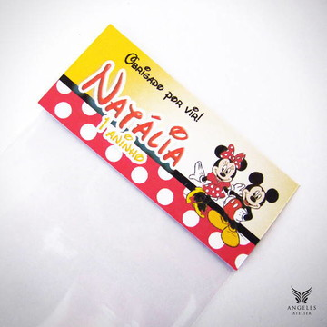 Rótulo Lembrancinha Mickey & Minnie