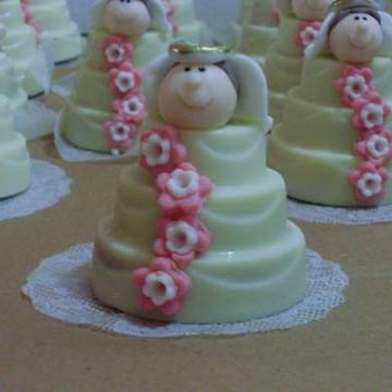 Mini bolo de andar para batizado