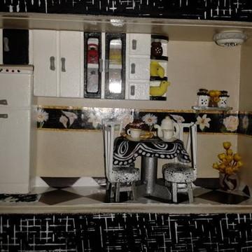 Cenário Mini Cozinha Café para Dois