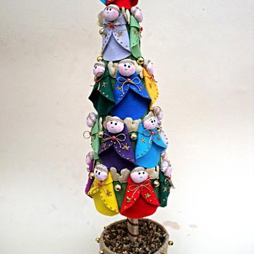 Arvore De Natal ANJINHOS DE FELTRO