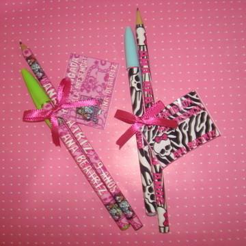 kit lápis com caneta
