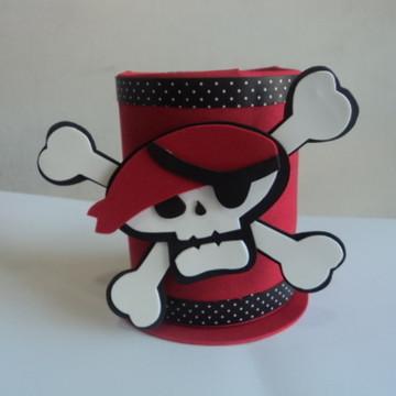Centro de mesa Caveira Pirata