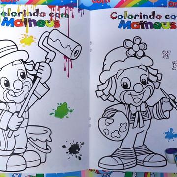 Kit - Revista colorir + Giz de Cera