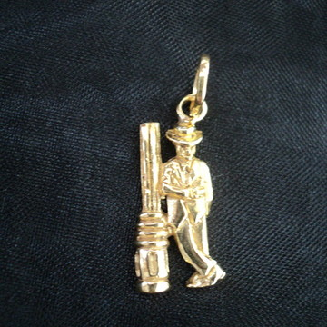 Pingente seu Zé em prata banhado em ouro