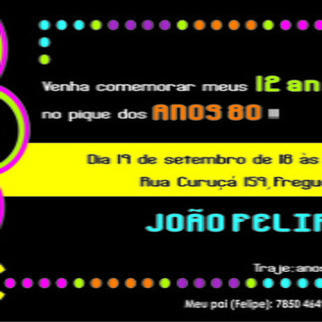 Convite ANOS 80
