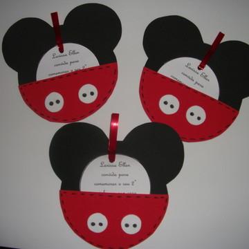 """Convite em eva """"Mickey/Minnie"""""""