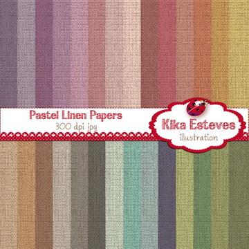 Papéis Digitais Textura Tecido Pastel
