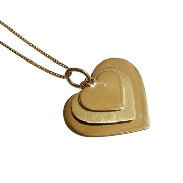 Colar Corações em Ouro 18k
