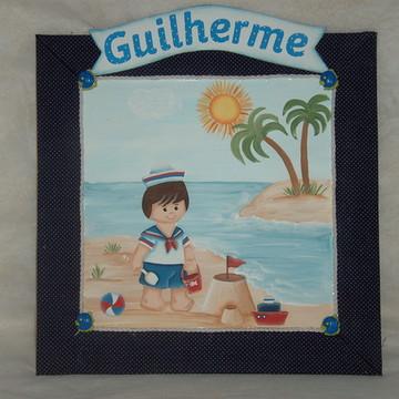 Placa de porta menino marinheiro