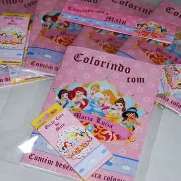 Kit Colorir c/ Giz de Cera Personalizado