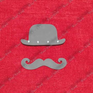 Kit Moustache - Porta Chaves