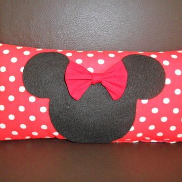 Almofada Minnie e Mickey(30x15cm)