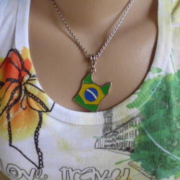 Colar camiseta Brasil