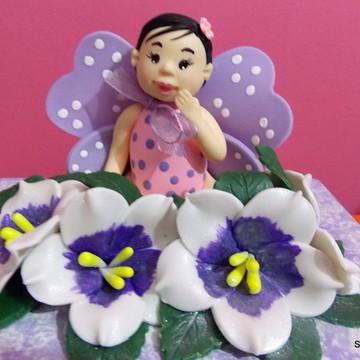 caixa mdf menina borboleta