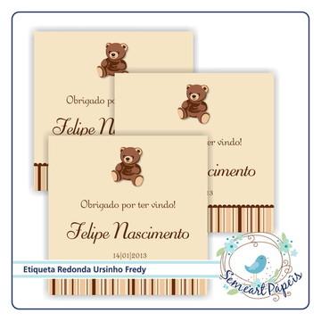 24 Etiquetas Personalizada Tedy