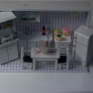 Quadro vitrine miniatura cozinha