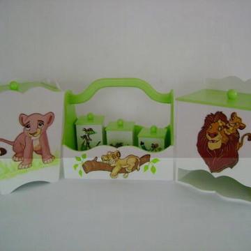 Kit Higiene- Rei Leão- 6 peças