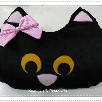 Travesseiro /Almofada Gatinha preta