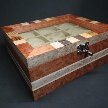 Caixa para relógios madeira