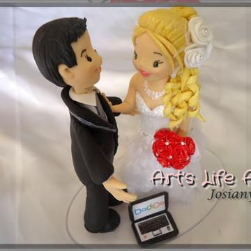 Topo de Bolo para Casamento Personalizado Leia a descrição!