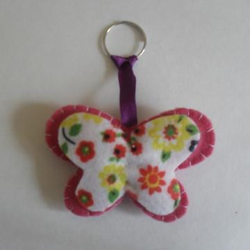 chaveiro borboleta feltro
