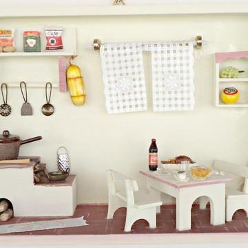 Cozinha miniatura grande