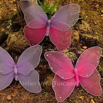 Kit de 3 borboletas meia de seda