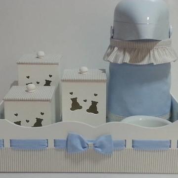 Kit higiene urso azul