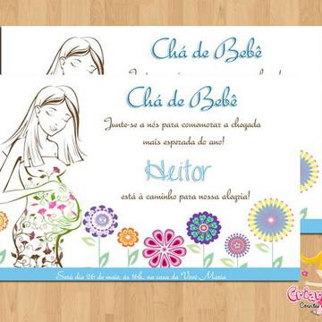 Convite Chá de Bebê Mamãe mod.2