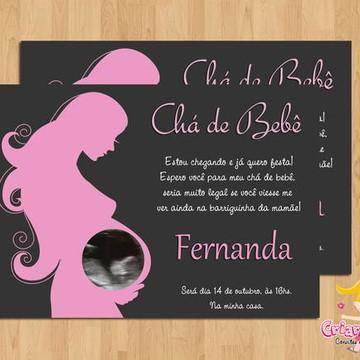 Convite Chá de Bebê Mamãe mod.1
