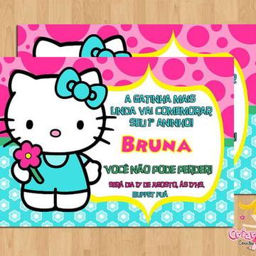 Convite Hello Kitty