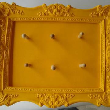 Caixa Correio+Porta Chaves Amarelo