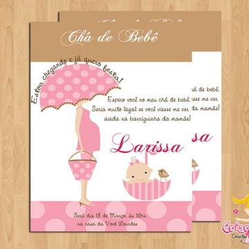 Convite Chá de Bebê Mamãe Guarda-Chuva