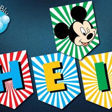 Bandeirola Festa Digital Mickey Disney